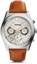 Fossil Perfect Boyfriend Multifunction Dark Brown Leather Watch