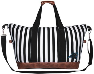 Unbranded Women's Carolina Panthers Striped Weekender Bag