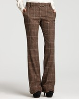 Houndstooth Bootcut Pants