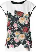 Twin-Set floral embroidered T-shirt - women - Silk/Cotton/Viscose - S