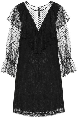 See by Chloe Lace and cotton-blend dress