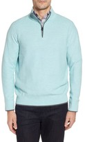 Tailorbyrd Men's Starks Tipped Quarter Zip Sweater