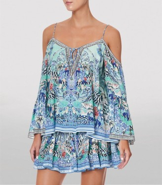 Camilla Silk Wings of Luxor Off-The-Shoulder Top