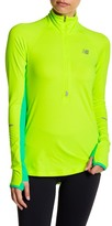 New Balance Half Zip Long Sleeve Moisture Wicking Top