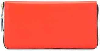 Comme des Garcons Super Fluo Leather Zip Around Wallet