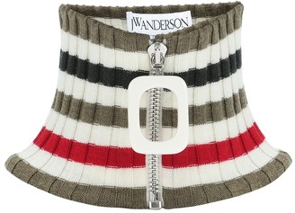 J.W.Anderson Striped wool collar