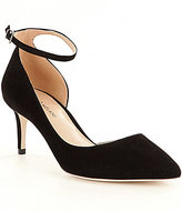 Antonio Melani Marchela Suede Pointed-Toe Ankle Strap Pumps