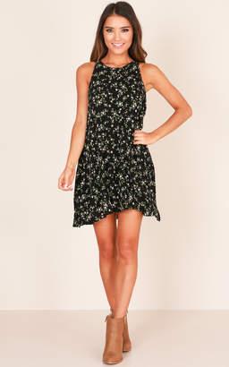 Showpo Not Your Girl dress in black floral - 8 (S) Sale Dresses