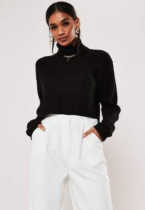 Missguided Tall Black Turtle Neck Sweater