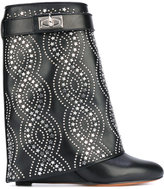Givenchy studded Shark Lock boots - women - Calf Leather/Leather - 36