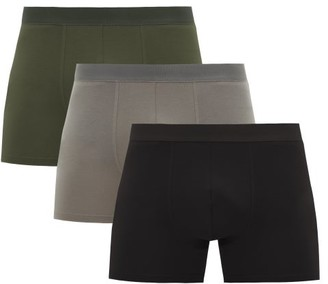 Cdlp - Pack Of Three Lyocell-blend Jersey Boxer Briefs - Mens - Multi