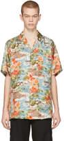 Off-White Multicolor Silk Hawaiian Shirt
