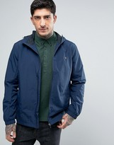 Farah Newbern Hooded Rain Jacket in Navy
