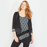 Taillissime 2-in-1 Effect Cardigan with Asymmetric Hem