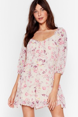 Nasty Gal Womens Where'd You Grow Floral Romper - Pink