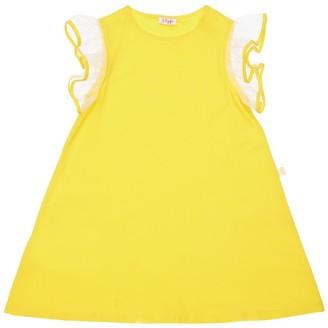 Il Gufo Cotton Jersey Dress With Ruffles