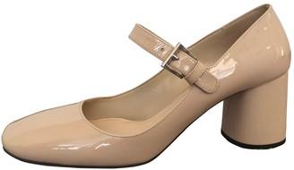 Prada Mary Jane Beige Patent leather Heels