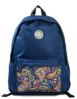 Pretty Green Nylon Backpack With Paisley Pocket