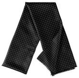 Black Oracle Polka Dot Silk Scarf