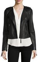 Joie Margolin Studded Leather Moto Jacket, Black