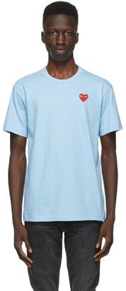 Comme des Garcons Blue Heart Patch T-Shirt