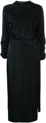 Sally LaPointe satin midi skirt