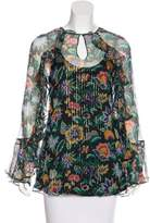 Alice McCall Silk Floral Print Blouse