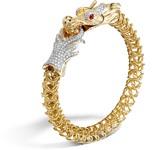 John Hardy Naga Link Bracelet with Diamonds