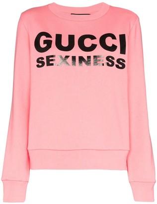 Gucci Sexiness logo print sweatshirt