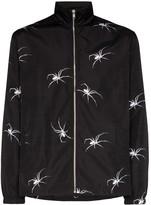 Services Unknown X Browns East spider detail zip-up jacket