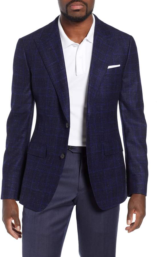 Bonobos Capstone Slim Fit Plaid Wool & Linen Sport Coat