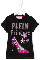 Philipp Plein sequin T-shirt - kids - Cotton/Spandex/Elastane/Crystal - 8 yrs