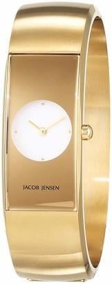 Jacob Jensen Womens Analogue Quartz Watch with Stainless Steel Strap JJ482