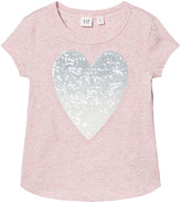 Gap Pink Heather Graphic Print T-Shirt