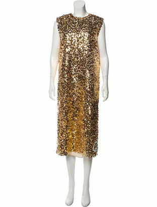 Prada 2018 Silk Dress w/ Tags Gold