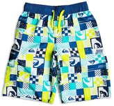 Quiksilver Boys' Square Logo Print Boardshorts - Sizes 4-7