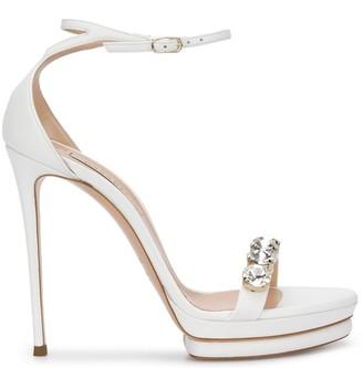 Casadei Embellished Stacked-Sole Sandals