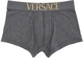 Versace Underwear Grey Low-Rise Logo Boxers