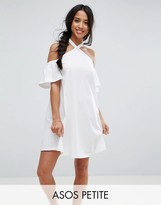 Asos Halterneck Cold Shoulder Sundress