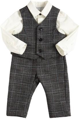 Emporio Armani Viscose Blend Shirt, Vest & Pants