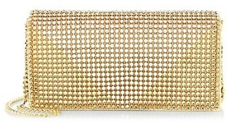 Whiting & Davis Crystal Triangle Metal Mesh Clutch