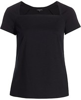 Thumbnail for your product : Lafayette 148 New York, Plus Size Corinne Square-Neck Top