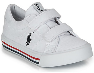 Polo Ralph Lauren EVANSTON EZ girls's Shoes (Trainers) in White