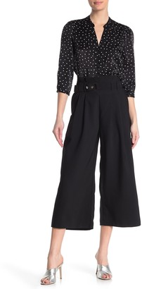 Laundry by Shelli Segal Paperbag Wide Leg Crop Pants
