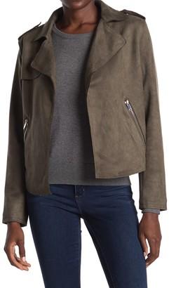 Philosophy di Lorenzo Serafini Faux Suede Moto Jacket