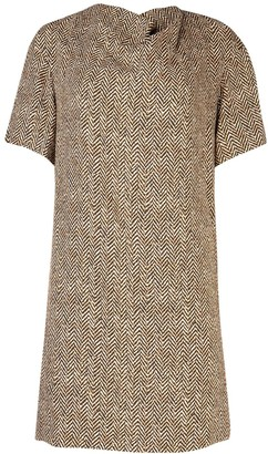 Chloé Short Sleeve Draped Dress