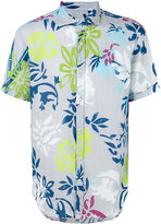 Drumohr floral print shirt - men - Linen/Flax - S