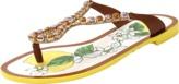 Dolce & Gabbana Crystal Detail Thong Sandal