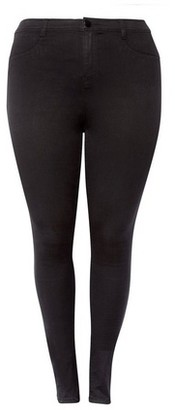 Dorothy Perkins Womens Dp Curve Plus Size Black Fly Front Jeggings, Black
