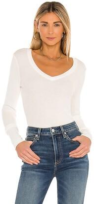 Bobi Long Sleeve Thermal V Neck Top